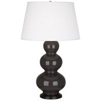 Robert Abbey CF41X Triple Gourd 33 inch 150 watt Coffee Table Lamp Portable Light in Deep Patina Bronze