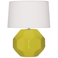 Robert Abbey CI01 Franklin 24 inch 150.00 watt Citron Glazed Ceramic Table Lamp Portable Light
