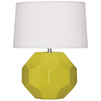 Robert Abbey CI02 Franklin 16 inch 60.00 watt Citron Glazed Ceramic Accent Lamp Portable Light