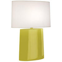 Robert Abbey CI03 Victor 26 inch 100.00 watt Citron Glazed Ceramic Table Lamp Portable Light