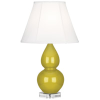 Robert Abbey CI13 Small Double Gourd 22 inch 150 watt Citron Accent Lamp Portable Light in Lucite Ivory Silk