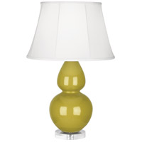 Robert Abbey CI23 Double Gourd 30 inch 150 watt Citron Table Lamp Portable Light in Lucite Ivory Silk