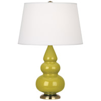 Robert Abbey CI30X Small Triple Gourd 24 inch 150 watt Citron Accent Lamp Portable Light in Antique Brass