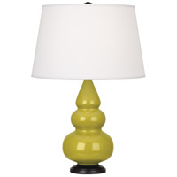 Robert Abbey CI31X Small Triple Gourd 24 inch 150 watt Citron Accent Lamp Portable Light in Deep Patina Bronze