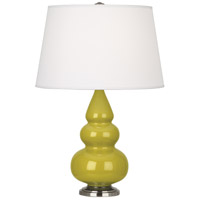 Robert Abbey CI32X Small Triple Gourd 24 inch 150 watt Citron Accent Lamp Portable Light in Antique Silver