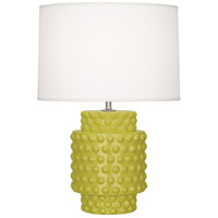 Dolly 21 inch 150 watt Citron Glazed Textured Ceramic Accent Lamp Portable Light