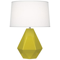 Robert Abbey CI930 Delta 23 inch 150 watt Citron with Polished Nickel Table Lamp Portable Light in Oyster Linen