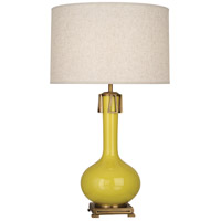 Robert Abbey CI992 Athena 32 inch 150 watt Citron with Aged Brass Table Lamp Portable Light