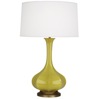 Robert Abbey CI994 Pike 32 inch 150 watt Citron Table Lamp Portable Light in Aged Brass