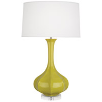 Robert Abbey CI996 Pike 33 inch 150 watt Citron Table Lamp Portable Light in Lucite