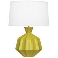 Orion 27 inch 150 watt Citron Table Lamp Portable Light, Polished Nickel Accents