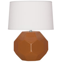 Robert Abbey CM01 Franklin 24 inch 150.00 watt Cinnamon Glazed Ceramic Table Lamp Portable Light