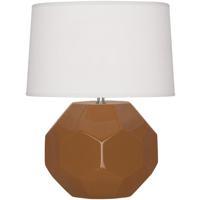 Robert Abbey CM02 Franklin 16 inch 60.00 watt Cinnamon Glazed Ceramic Accent Lamp Portable Light