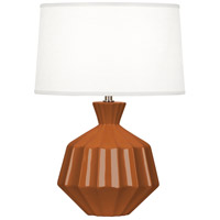 Orion 18 inch 60 watt Cinnamon Table Lamp Portable Light, Polished Nickel Accents