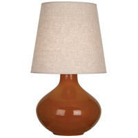 Robert Abbey CM991 June 31 inch 150 watt Cinnamon Table Lamp Portable Light in Buff Linen