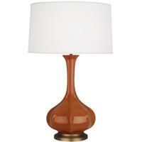 Robert Abbey CM994 Pike 32 inch 150 watt Cinnamon Table Lamp Portable Light in Aged Brass
