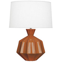 Orion 27 inch 150 watt Cinnamon Table Lamp Portable Light, Polished Nickel Accents