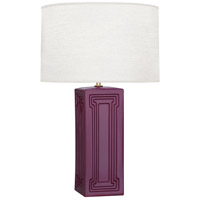Robert Abbey CP50 Williamsburg Nottingham 30 inch 150 watt Deep Mauve with Modern Brass Table Lamp Portable Light in Carter Plum