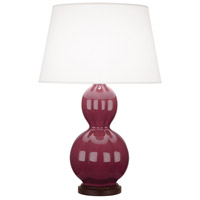 Robert Abbey CP998 Williamsburg Randolph 31 inch 150 watt Carter Plum with Walnut Wood Table Lamp Portable Light