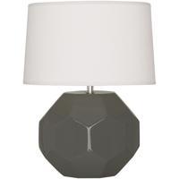 Robert Abbey CR02 Franklin 16 inch 60.00 watt Ash Glazed Ceramic Accent Lamp Portable Light