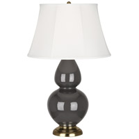 Robert Abbey CR20 Double Gourd 31 inch 150 watt Ash Table Lamp Portable Light in Antique Brass Ivory Silk