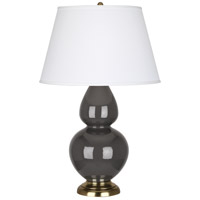 Robert Abbey Double Gourd 1 Light Table Lamp in Mg Charcoal CR20X