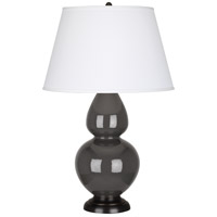 Robert Abbey Double Gourd 1 Light Table Lamp in Mg Charcoal CR21X