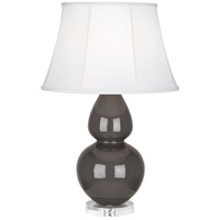Robert Abbey Double Gourd 1 Light Table Lamp in Mg Charcoal CR23