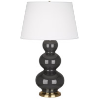 Robert Abbey Triple Gourd 1 Light Table Lamp in Mg Charcoal CR40X