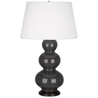 Robert Abbey Triple Gourd 1 Light Table Lamp in Mg Charcoal CR41X