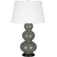 Robert Abbey CR41X Triple Gourd 33 inch 150 watt Ash Table Lamp Portable Light in Deep Patina Bronze