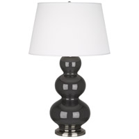 Robert Abbey Triple Gourd 1 Light Table Lamp in Mg Charcoal CR42X