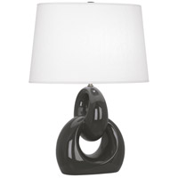 Robert Abbey CR981 Fusion 27 inch 150 watt Ash with Polished Nickel Table Lamp Portable Light