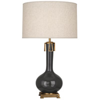 Robert Abbey CR992 Athena 32 inch 150 watt Ash with Aged Brass Table Lamp Portable Light