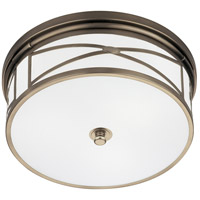 Robert Abbey D1985 Chase 3 Light 15 inch Dark Antique Nickel Flushmount Ceiling Light