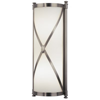 Robert Abbey D1986 Chase 2 Light 7 inch Dark Antique Nickel Wall Sconce Wall Light