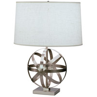 Robert Abbey D2160 Lucy 23 inch 150 watt Dark Antique Nickel Accent Lamp Portable Light in Oyster Linen