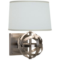 Robert Abbey D2163 Lucy 1 Light 8 inch Dark Antique Nickel Wall Sconce Wall Light in Oyster Linen