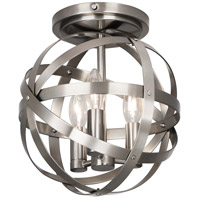 Robert Abbey D2166 Lucy 3 Light 10 inch Dark Antique Nickel Flushmount Ceiling Light
