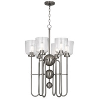 Robert Abbey D410 Williamsburg Tyrie 6 Light 23 inch Dark Antique Nickel Chandelier Ceiling Light