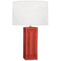 Robert Abbey DB50 Williamsburg Nottingham 30 inch 150 watt Dragons Blood with Modern Brass Table Lamp Portable Light