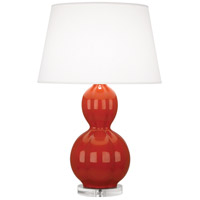 Robert Abbey DB997 Williamsburg Randolph 31 inch 150 watt Rusty Red Orange Table Lamp Portable Light in Lucite Dragons Blood
