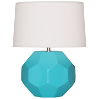 Robert Abbey EB02 Franklin 16 inch 60.00 watt Egg Blue Glazed Ceramic Accent Lamp Portable Light