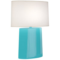 Robert Abbey EB03 Victor 26 inch 100.00 watt Egg Blue Glazed Ceramic Table Lamp Portable Light