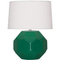 Robert Abbey EG01 Franklin 24 inch 150.00 watt Emerald Green Glazed Ceramic Table Lamp Portable Light