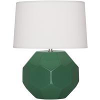 Robert Abbey EG02 Franklin 16 inch 60.00 watt Emerald Green Glazed Ceramic Accent Lamp Portable Light