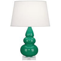 Robert Abbey EG33X Small Triple Gourd 24 inch 150 watt Emerald Green Accent Lamp Portable Light in Lucite