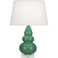 Robert Abbey EG33X Small Triple Gourd 24 inch 150 watt Emerald Green Accent Lamp Portable Light in Lucite