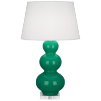 Robert Abbey EG43X Triple Gourd 33 inch 150 watt Emerald Green Table Lamp Portable Light in Lucite