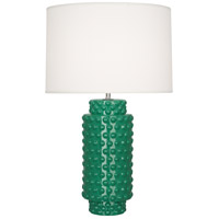 Robert Abbey EG800 Dolly 28 inch 150 watt Emerald Green Table Lamp Portable Light